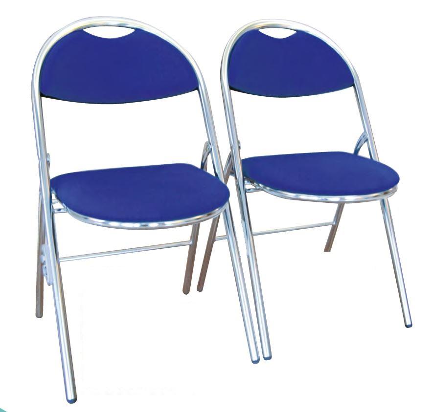 chaise pliante modèle hestia tissu M2 lot 2 chaises sans accroches