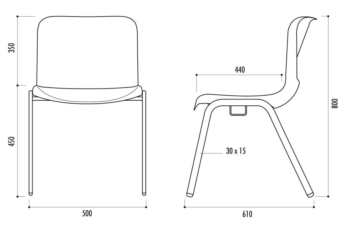 M2 200 Mande Chaises Chaise Assemblable Et Modèle Empilable Lot JFTl1cK3