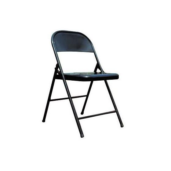 chaise métallique pliante et assemblable lot 6 chaises